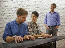 Will Coldwell tries his hand at the Seaboard alongside Heen-Wah Wai, while its creator Roland Lamb looks on