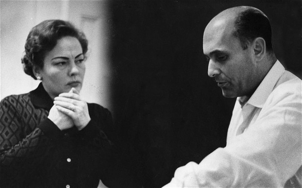 Amy Shuard and conductor Georg Solti in 1962.