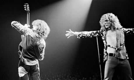 Led Zeppelin's Jimmy Page and Robert Plant in 1975