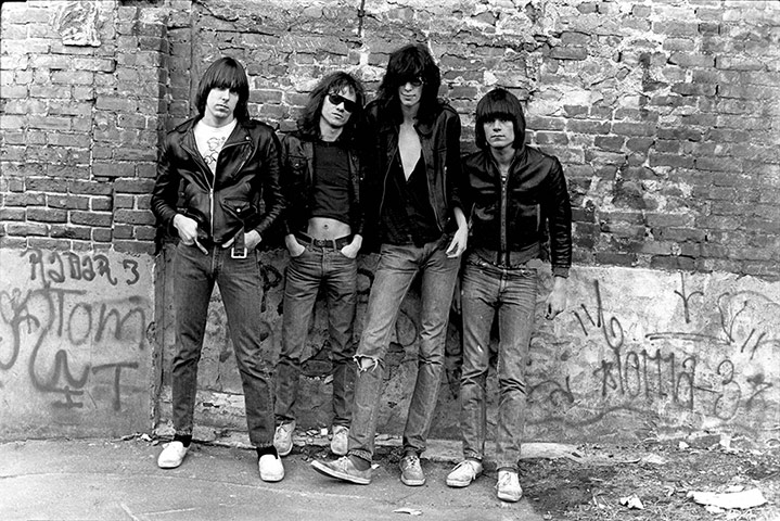 The Ramones: the Ramones album cover shoot