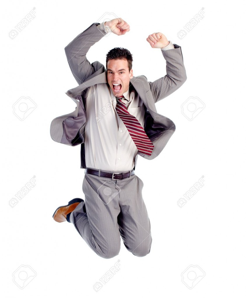 Happy-jumping-businessman