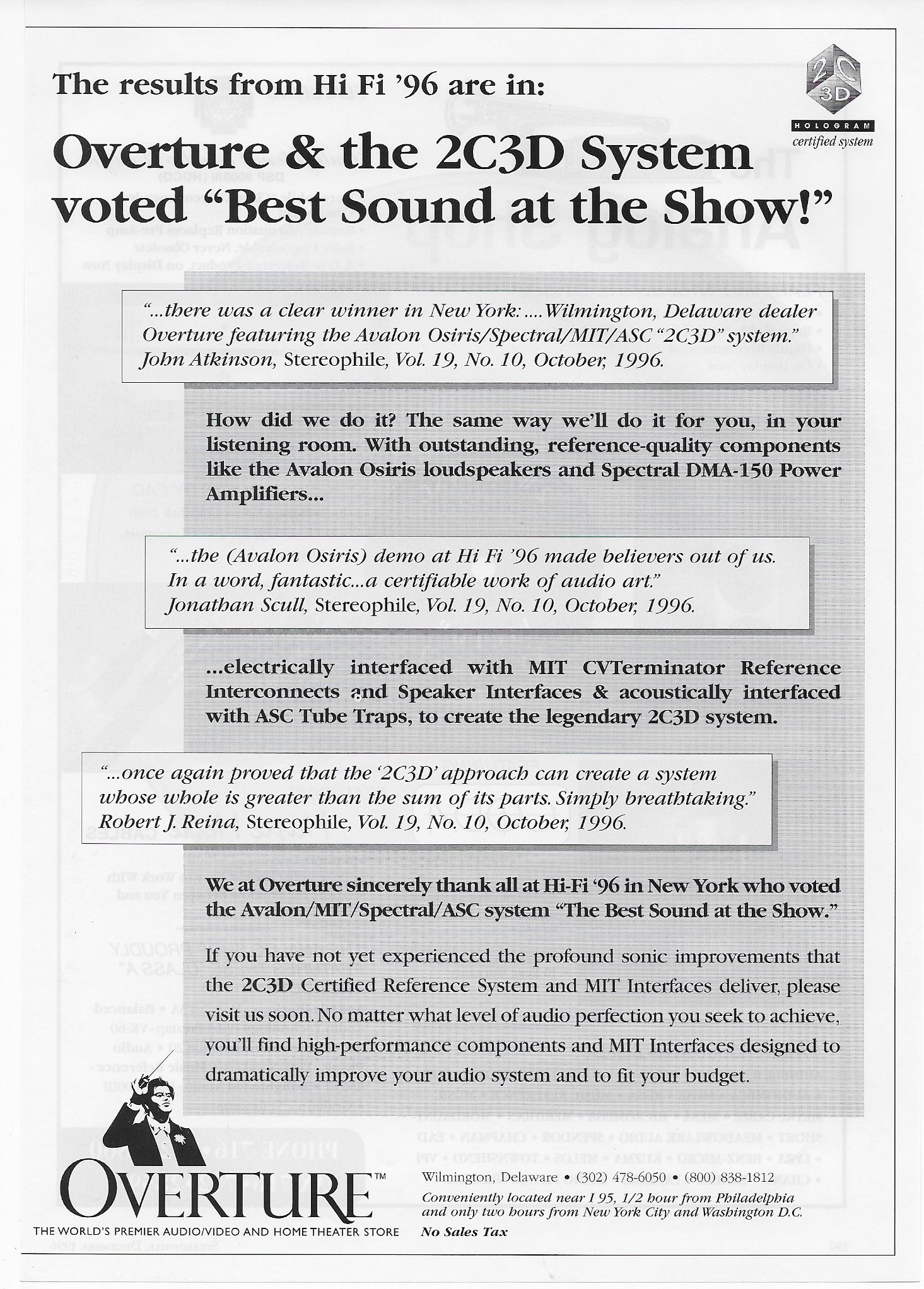 The results from Hi Fi '96 are in: | Audiophile News & Music