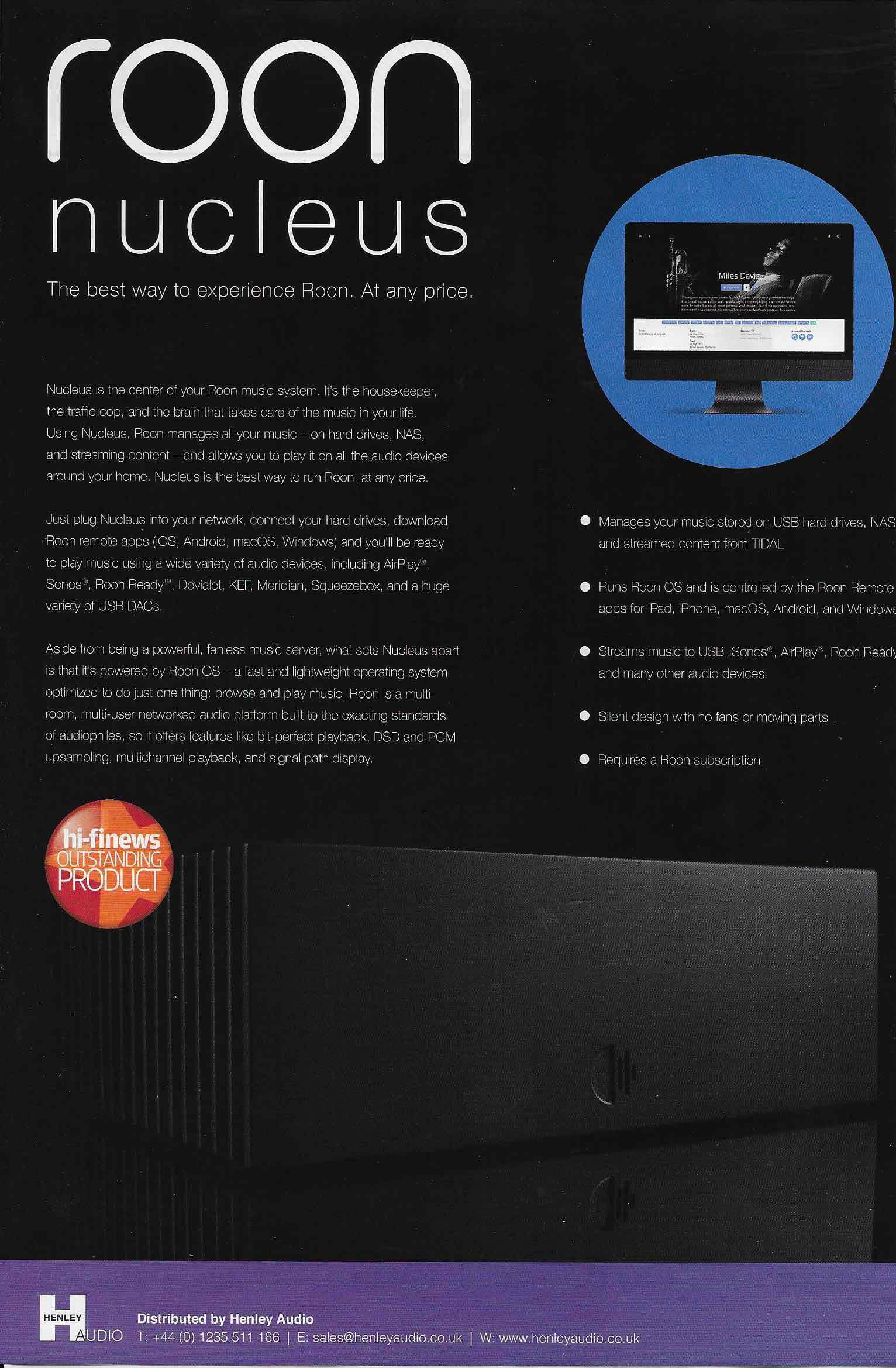 ROON: Nucleus | Audiophile News & Music Review